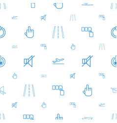 Off icons pattern seamless white background vector
