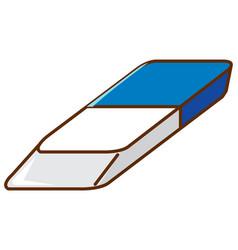 One piece eraser on white background vector