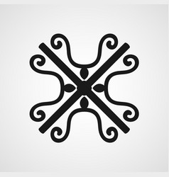 Ornamental black logo vector