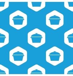 Pan hexagon pattern vector image