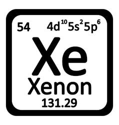 Periodic table element xenon icon vector image