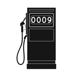 Petrol filling stationoil single icon in black vector