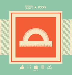 Protractor symbol icon vector