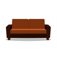 realistic sofa modern realistic comfortable sofa vector image