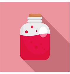 Red potion icon flat style vector