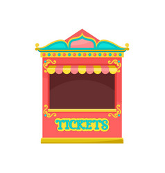Red ticket booth amusement park element vector