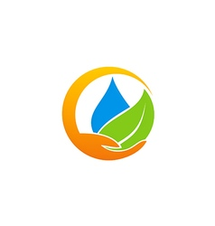 Save water ecology abstract logo vector