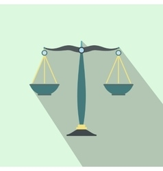 Scales of justice flat vector image