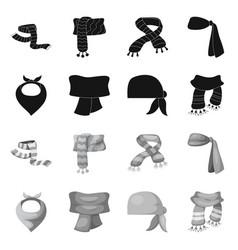 Scarf and shawl symbol vector
