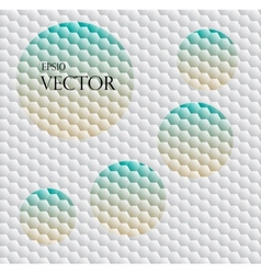 Seamless background with hex grid vector image