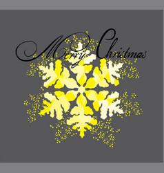 snowflake card vector image
