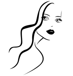 Stylish young woman vector image