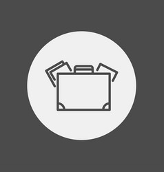 suitcase icon sign symbol vector image