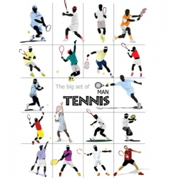 Tennis players vector