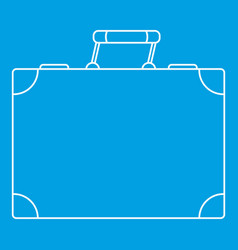 Travel bag icon outline style vector