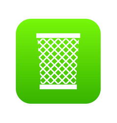 wastepaper basket icon digital green vector image