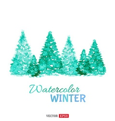 Watercolor winter background vector