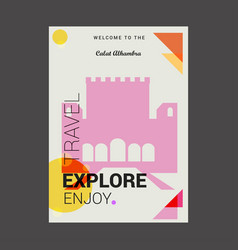 Welcome to the calat alhambra andalusia spain vector