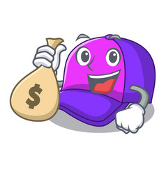 with money bag cap shape in the a cartoon vector image