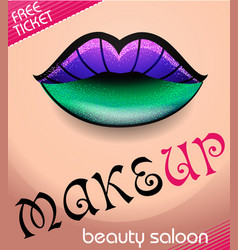 beauty salon 6 vector image