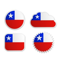 Chile flag labels vector image vector image