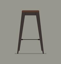 Industrial style steel stool vector image vector image