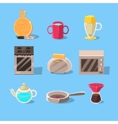 Kitchen Appliences Set vector image vector image