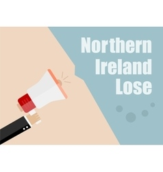 Northern Ireland lose Flat design business vector image vector image