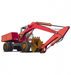 old-fashioned excavator vector image vector image