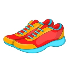 Sport sneakers icon cartoon style vector image vector image