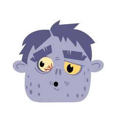 undead monster head avatar in cartoon style vector image vector image