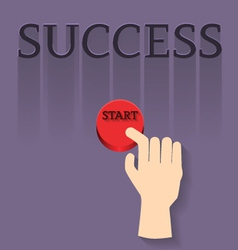 finger with star to success vector image vector image