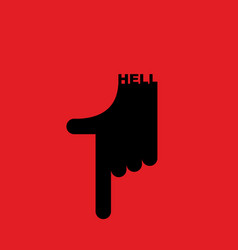 Hell pointer hand direction down pointing gesture vector
