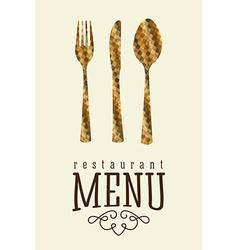 menu design vector image