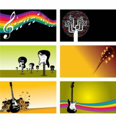 music business cards vector image