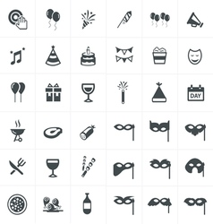 party Icons Set Design set vector image vector image