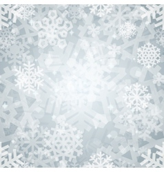 Shiny Silver Light Snowflakes Seamless Pattern for vector image vector image