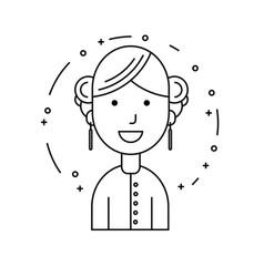 smiling girl character minimalism cartoon flat vector image