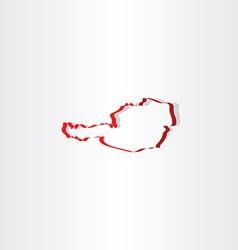 austria stylized map icon vector image