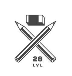 Crossed Pencils vector image