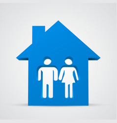 family icon and house vector image