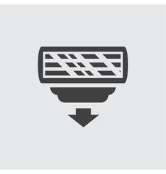 Razor head icon vector image