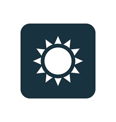 sun icon Rounded squares button vector image vector image