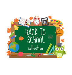 back to school board frame for text isolated on vector image