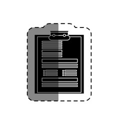 document clipboard isolated icon vector image