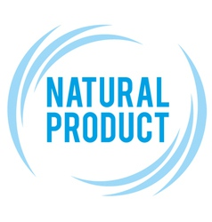 mark of the natural product vector image
