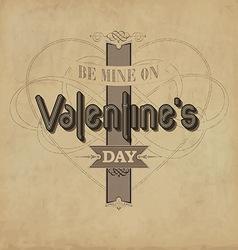 Vintage valentines template vector
