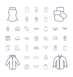 37 wear icons vector