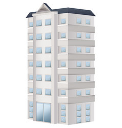 3d design for apartment building vector