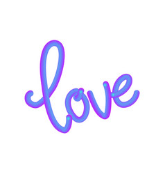 3d pink violet love sign vector image